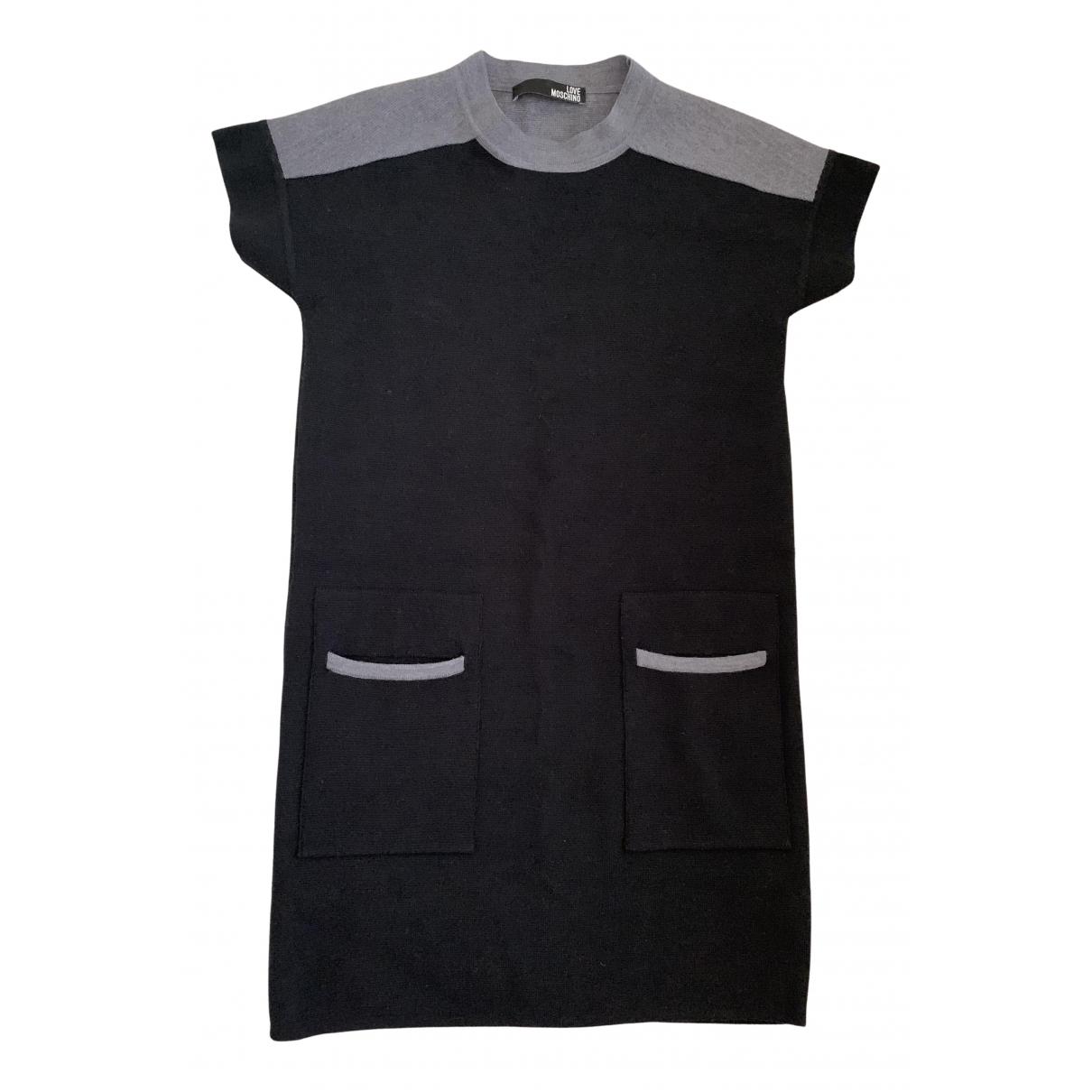 Moschino Love N Black Wool dress for Women 40 IT