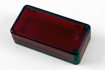Hammond 1551, Translucent Red Enclosure, IP54, Flanged, 50 x 25 x 15.5mm