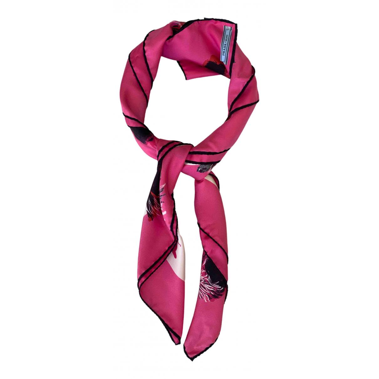 Prada - Foulard   pour femme en soie - rose