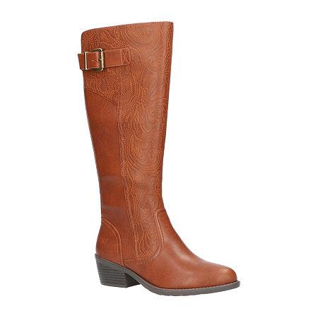 Easy Street Womens Arwen Booties Block Heel, 7 Medium, Brown
