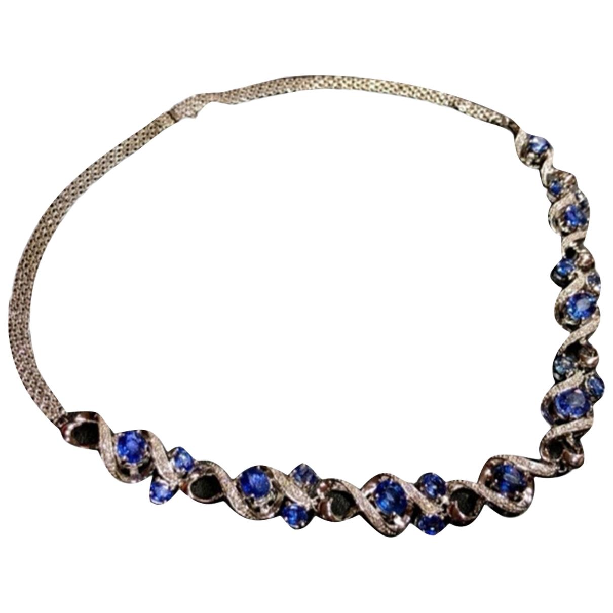 Collar Saphir de Oro blanco Non Signe / Unsigned
