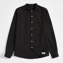Camisas  para hombre Parches Frase Casual
