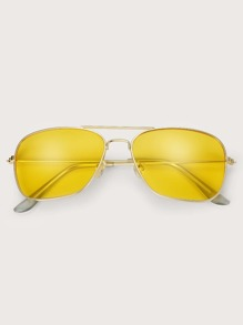 Guys Top Bar Aviator Sunglasses