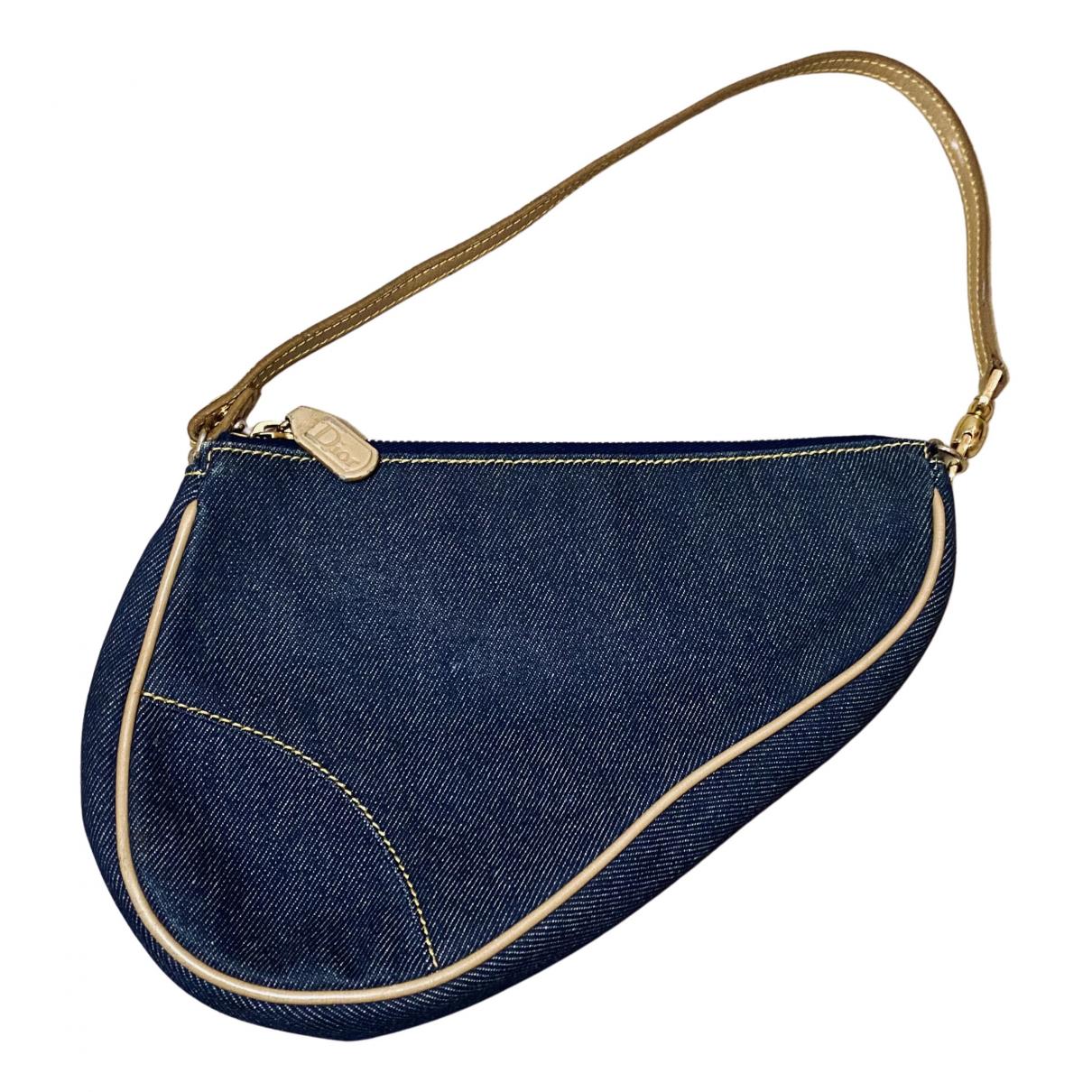 Dior Saddle Blue Denim - Jeans handbag for Women N