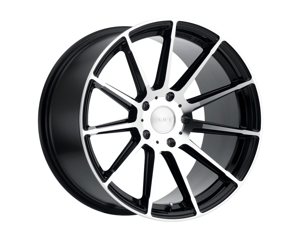 RUFF RS2 Wheel 18x8.5 5x120 35mm Gloss Black W/Machine Cut Face