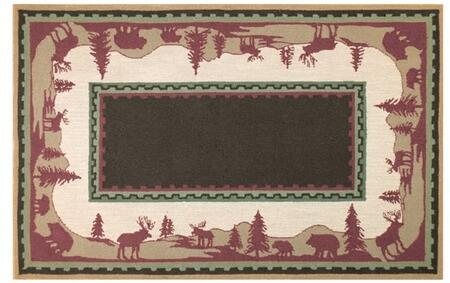 16325D 5 x 8 ft. Home On The Range Area Rug  in