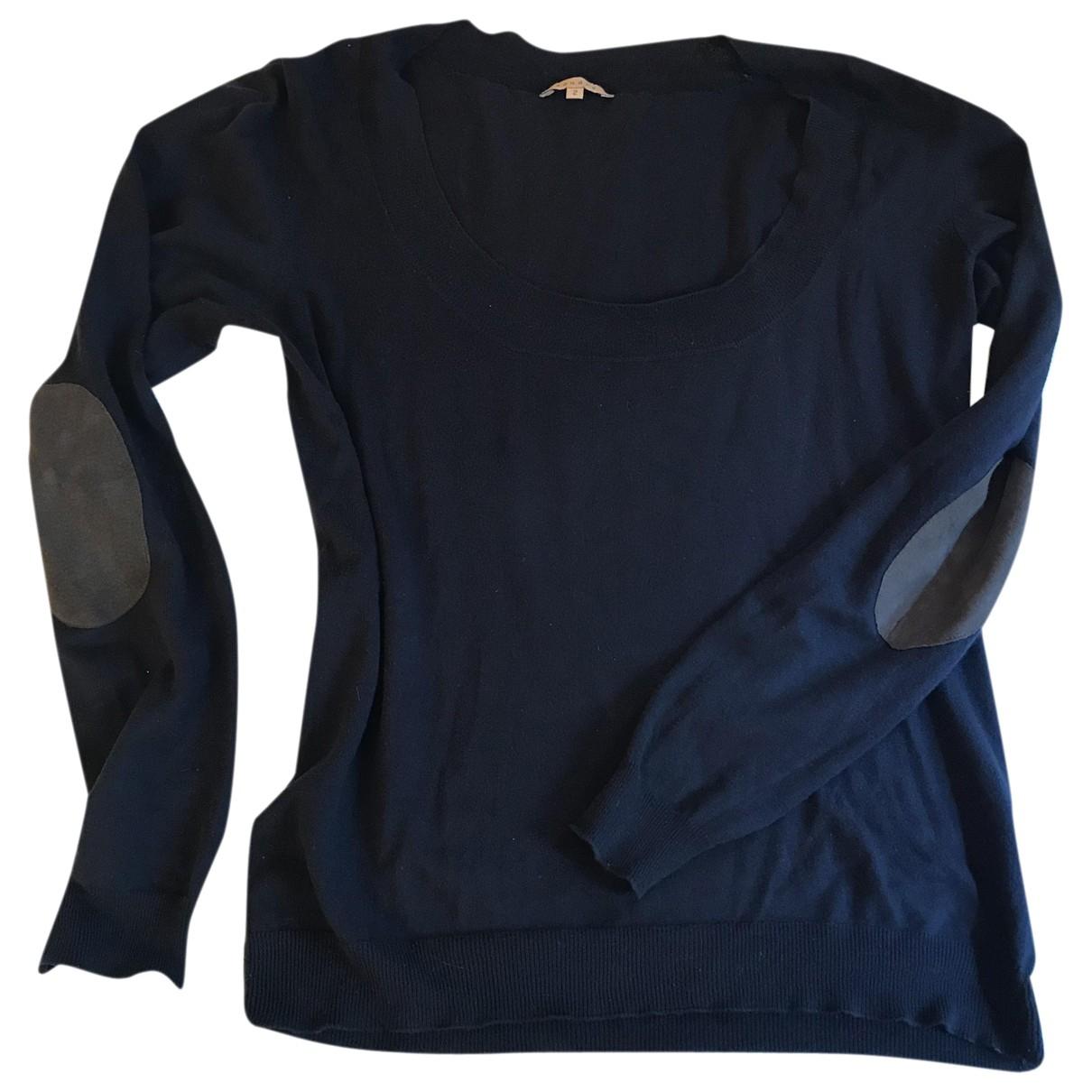 Sandro \N Navy Cotton Knitwear for Women 40 FR