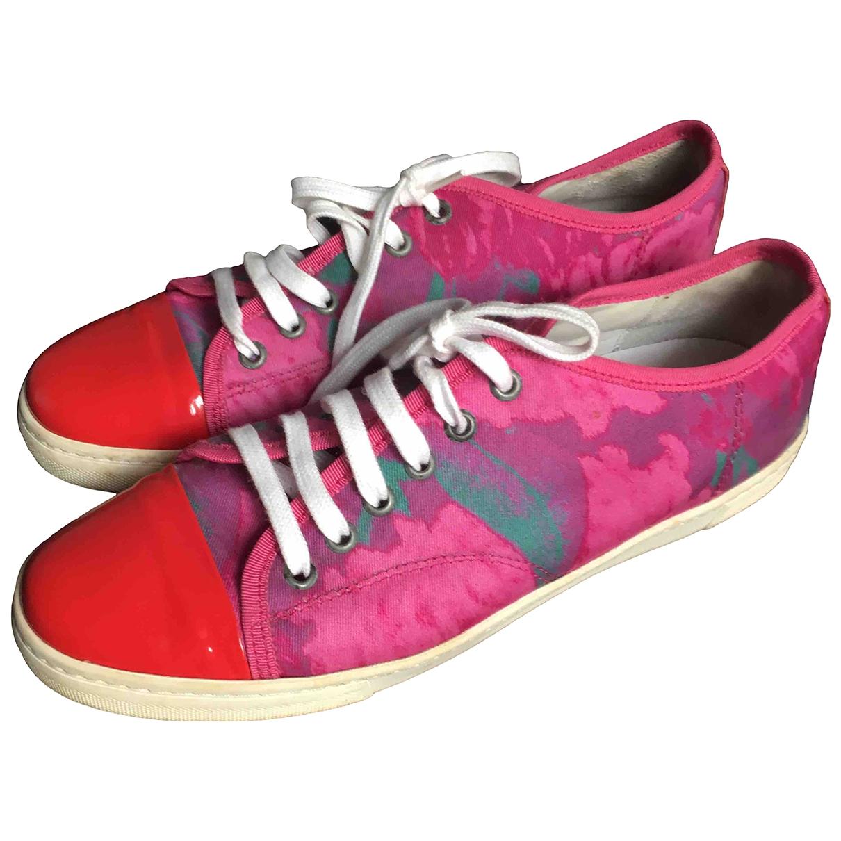 Lanvin \N Sneakers in  Rot Leinen