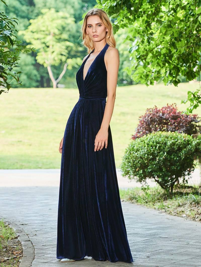 Ericdress A Line Halter Backless Evening Dress