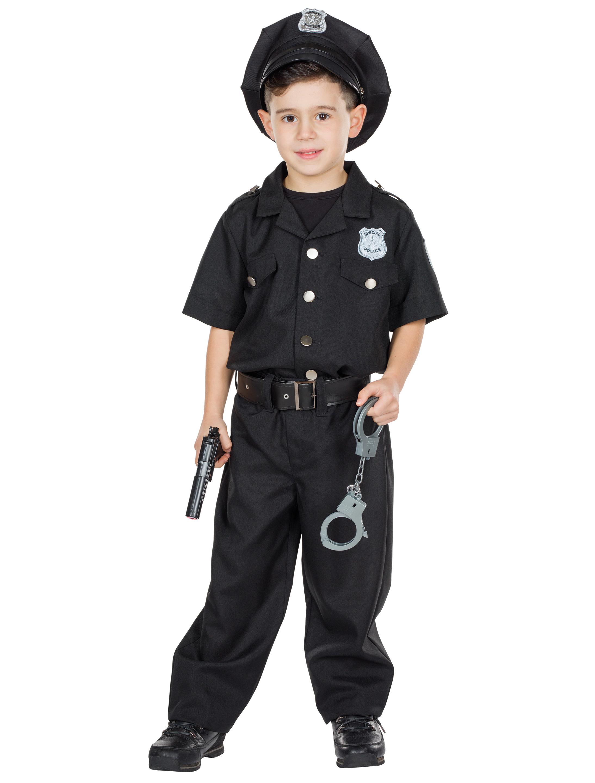 Kinder-Kostuem Police Officer schwarz 152 Grosse: 152