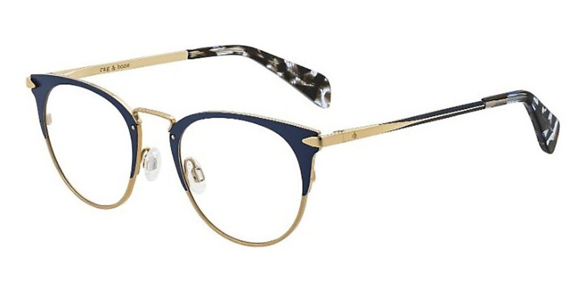 Rag & Bone RNB3016 NUC Women's Glasses Blue Size 49 - Free Lenses - HSA/FSA Insurance - Blue Light Block Available