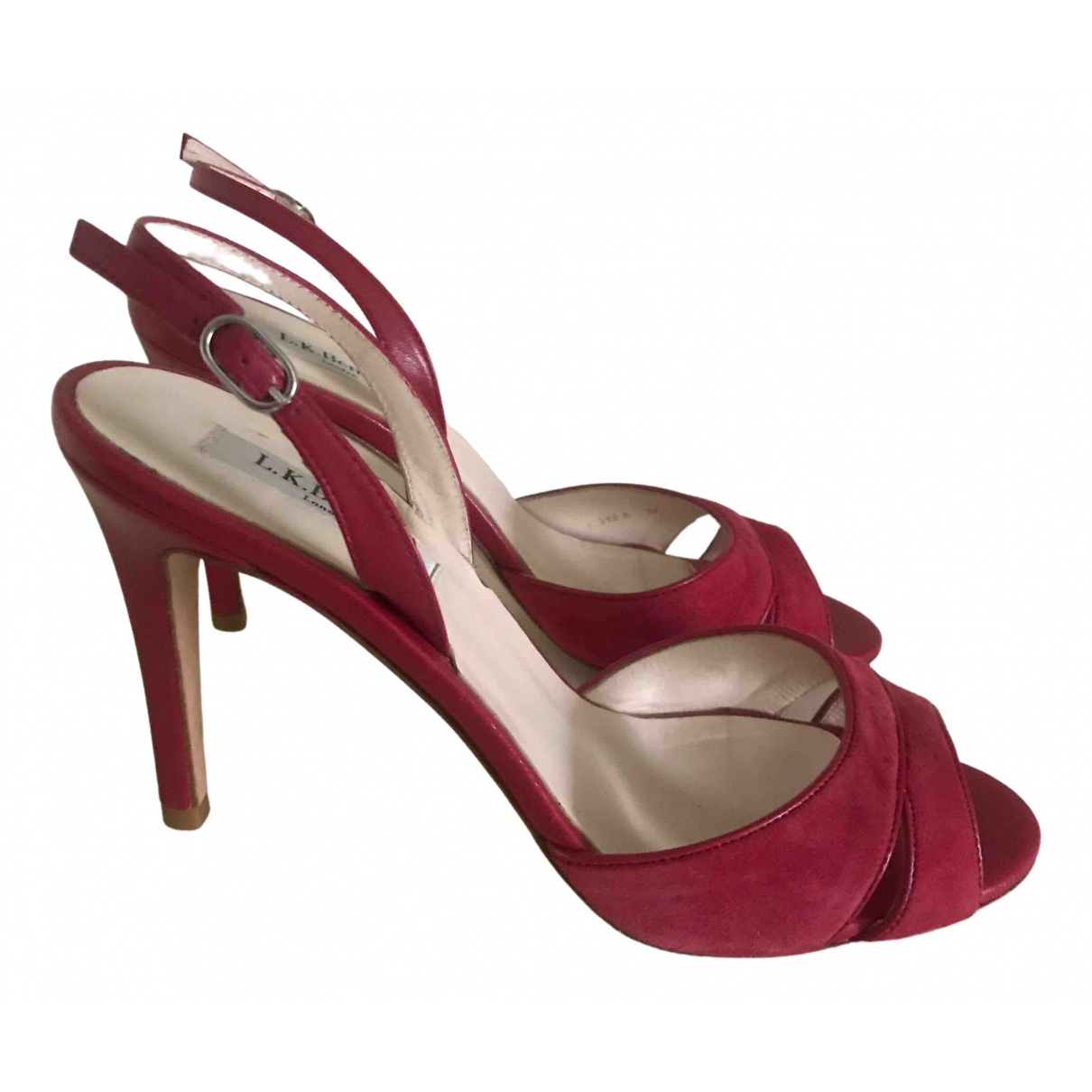 Lk Bennett N Red Leather Sandals for Women 39 EU