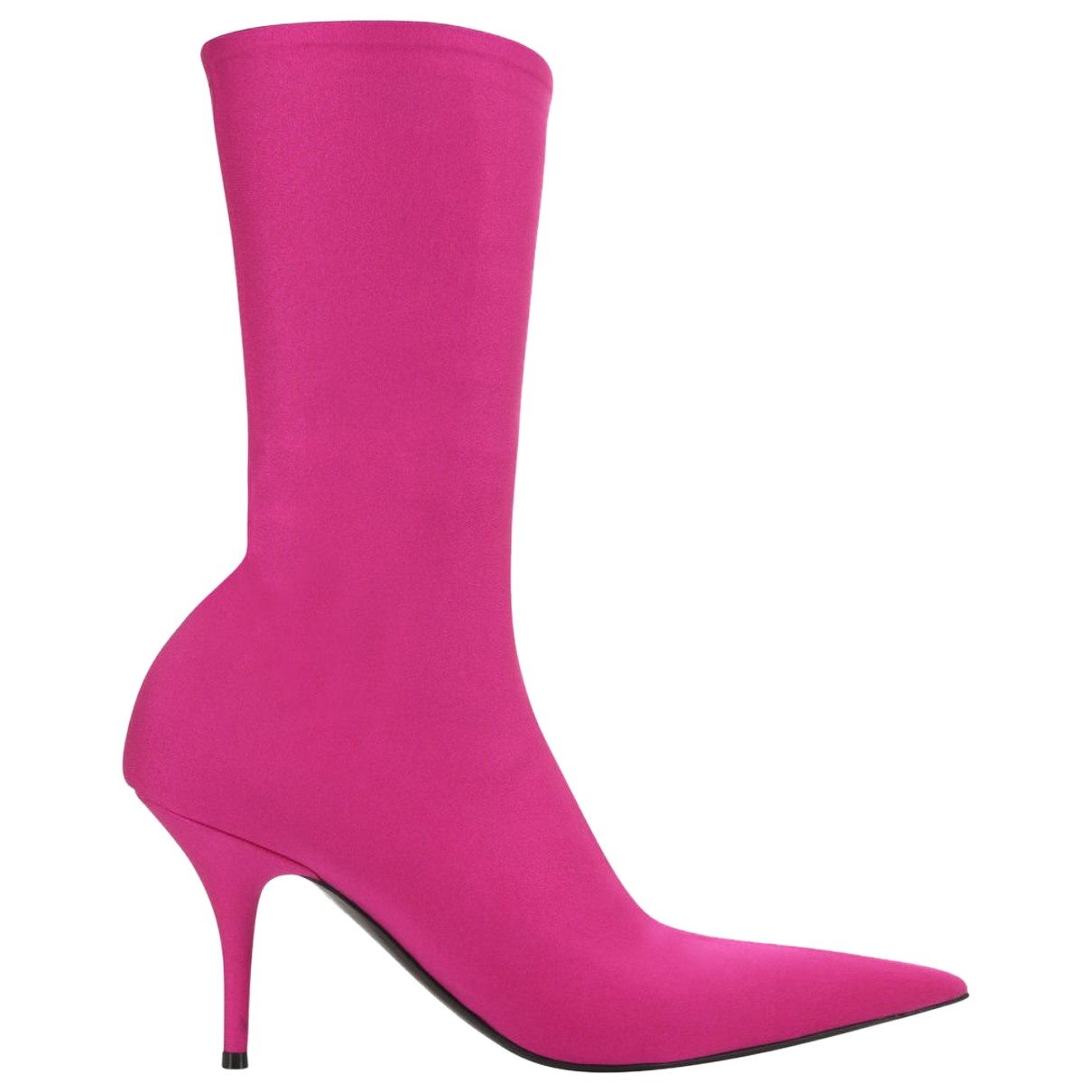Balenciaga Knife Stiefel in  Rosa Polyester