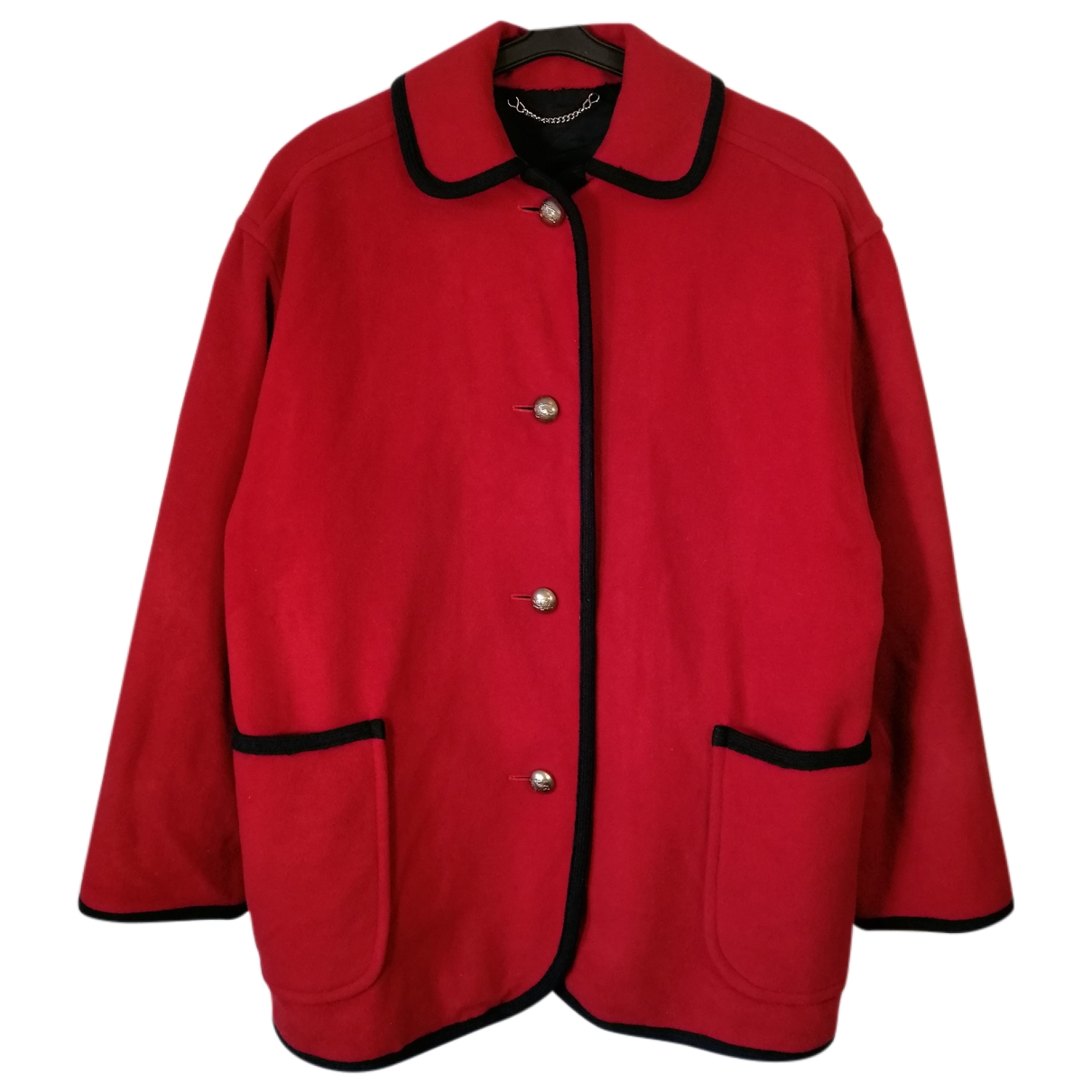 Burberry \N Red Wool coat for Women XL International