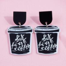 Ohrringe mit Kaffee Anhaenger