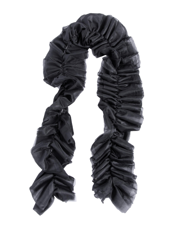 Kostuemzubehor Tuellschal schwarz 180cm