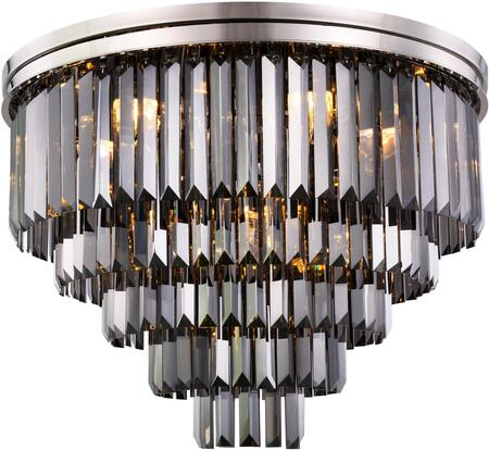1231F32PN-SS/RC 1231 Sydney Collection Flush Mount D:32In H:21In Lt:17 Polished Nickel Finish (Royal Cut