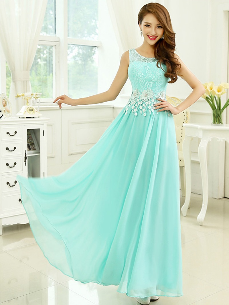 Ericdress A-Line Floor-Length Long Prom Dress