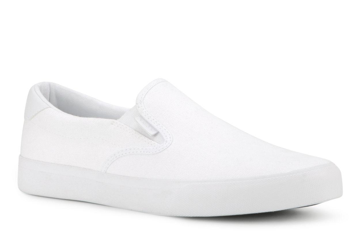 Men's Clipper Slip-On Sneaker (Choose Your Color: WHITE, Choose Your Size: 11.0)