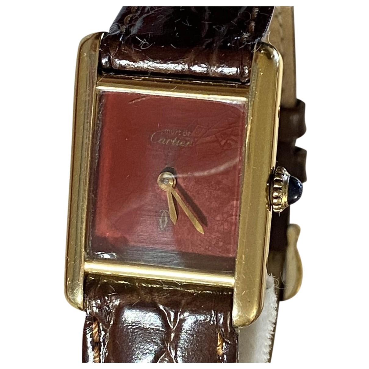 Cartier Tank Must Gold Silver Gilt watch for Women N