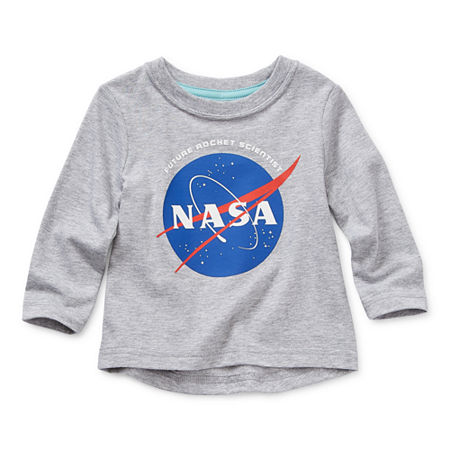 Okie Dokie Baby Boys Long Sleeve T-Shirt, 12 Months , Gray