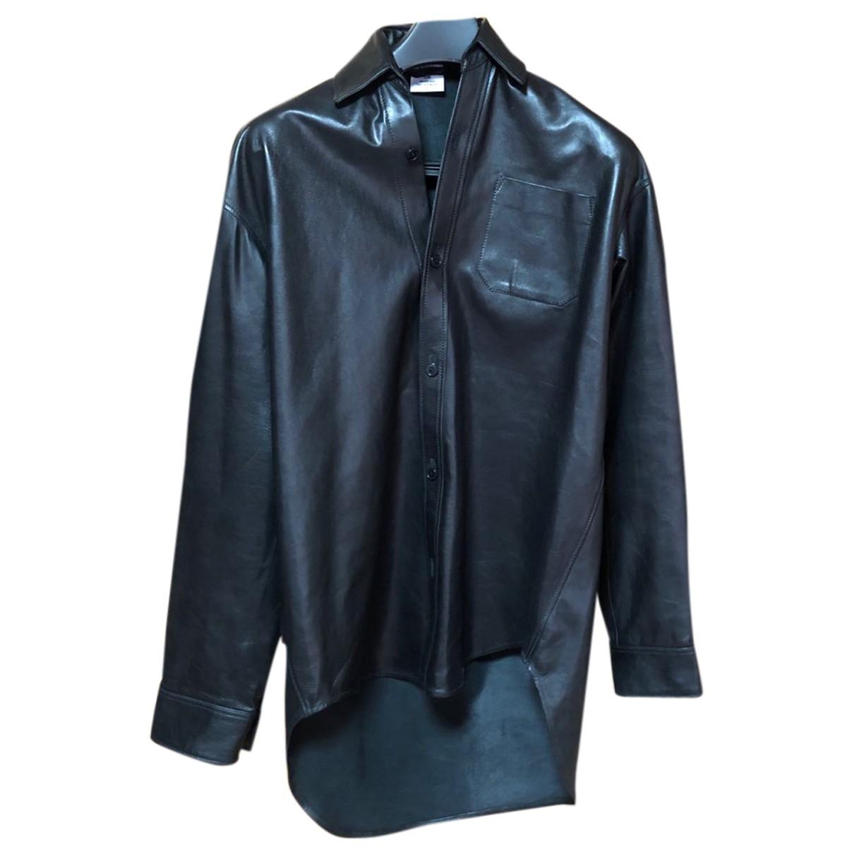Vetements \N Black Leather  top for Women XS International