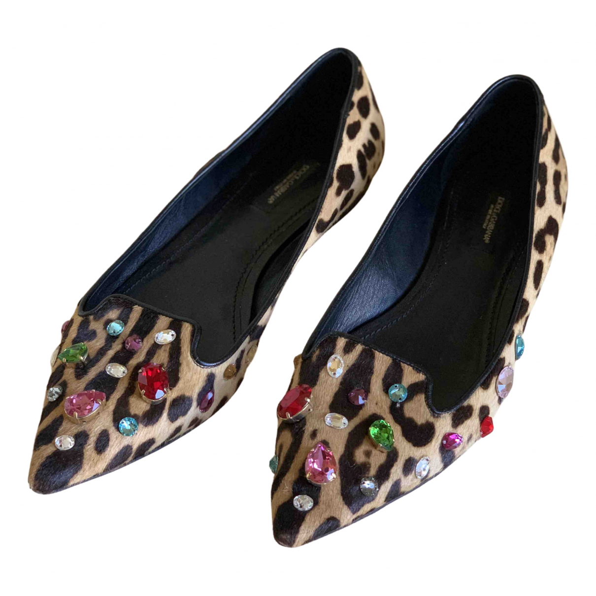Dolce & Gabbana \N Ballerinas in Kalbsleder in Pony-Optik
