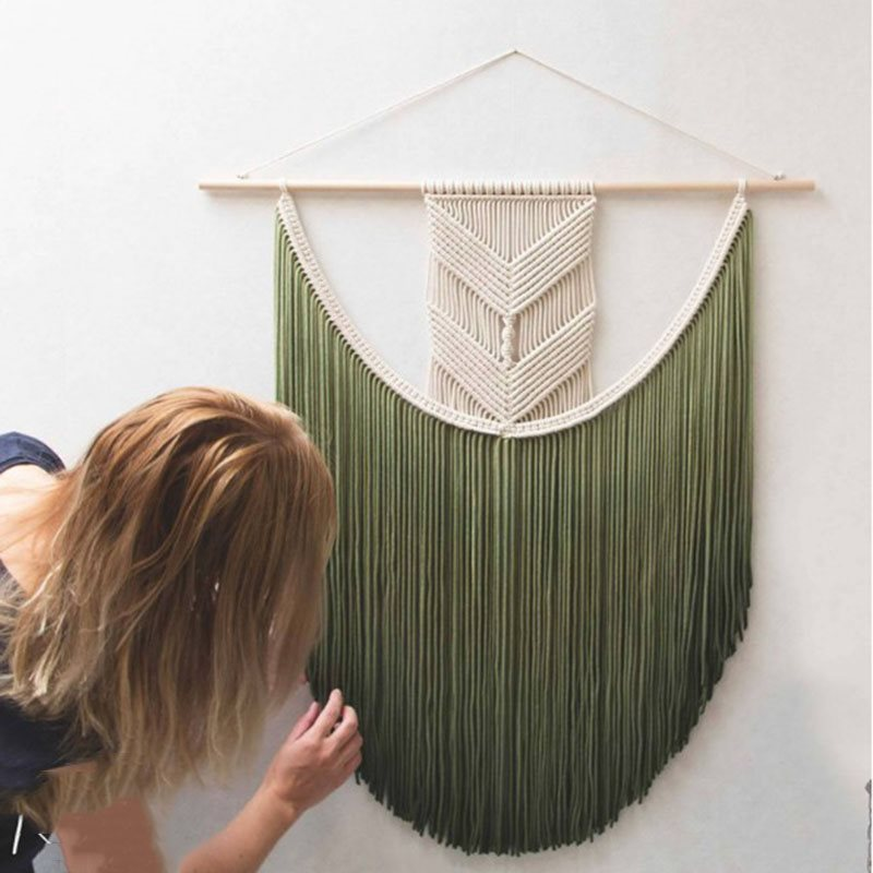 Bohemian Cotton Tassel Tapestry Wall Decoration 3 Sizes 4 Colours
