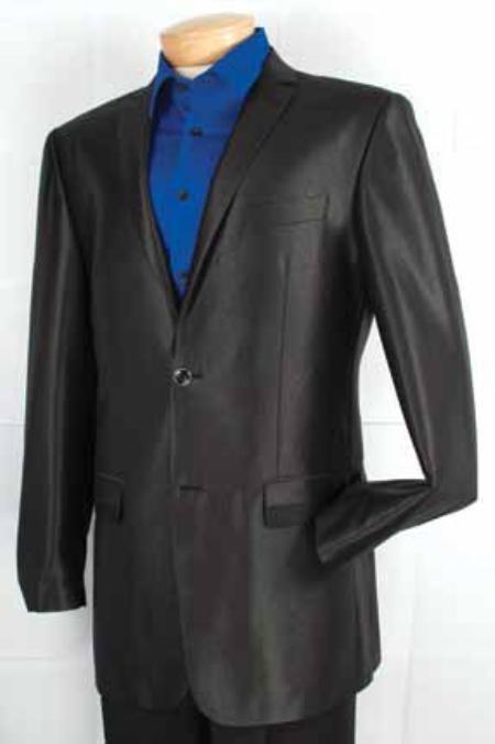 Mens Fashion 2 Button Sport Coat Black