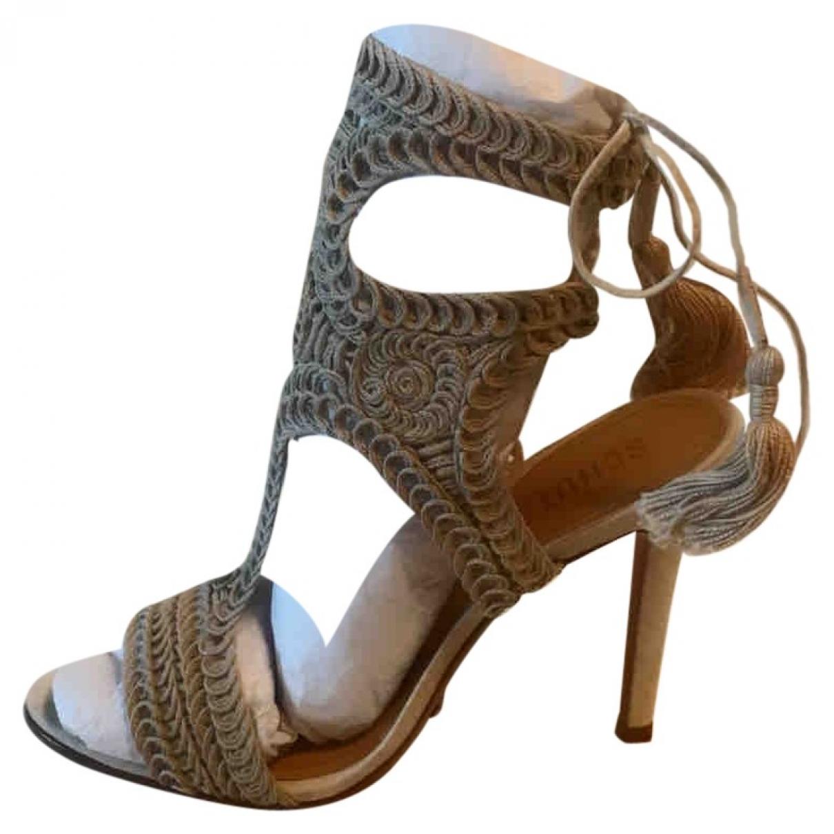 Schutz - Sandales   pour femme en toile - blanc
