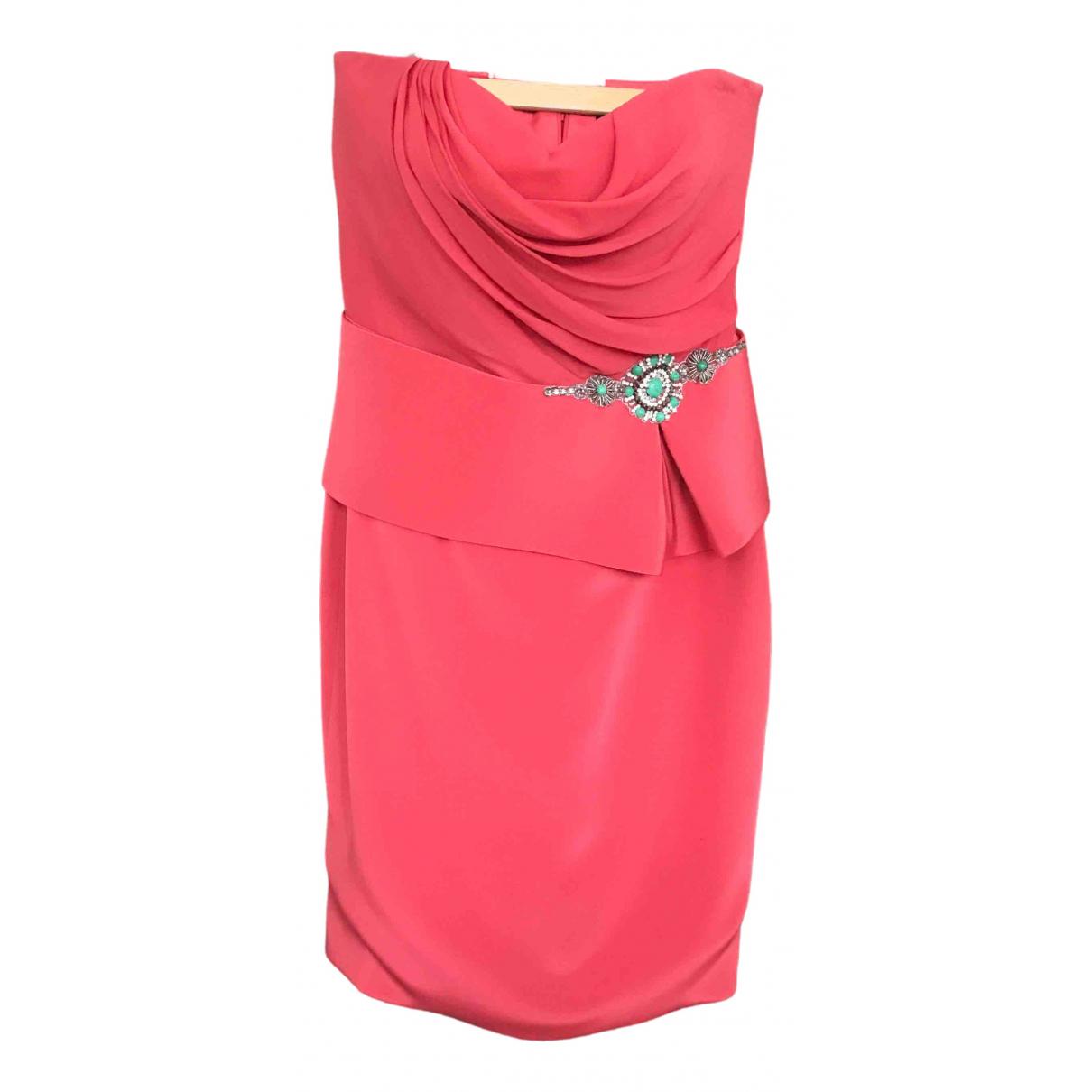 Marchesa Notte \N Kleid in  Orange Seide