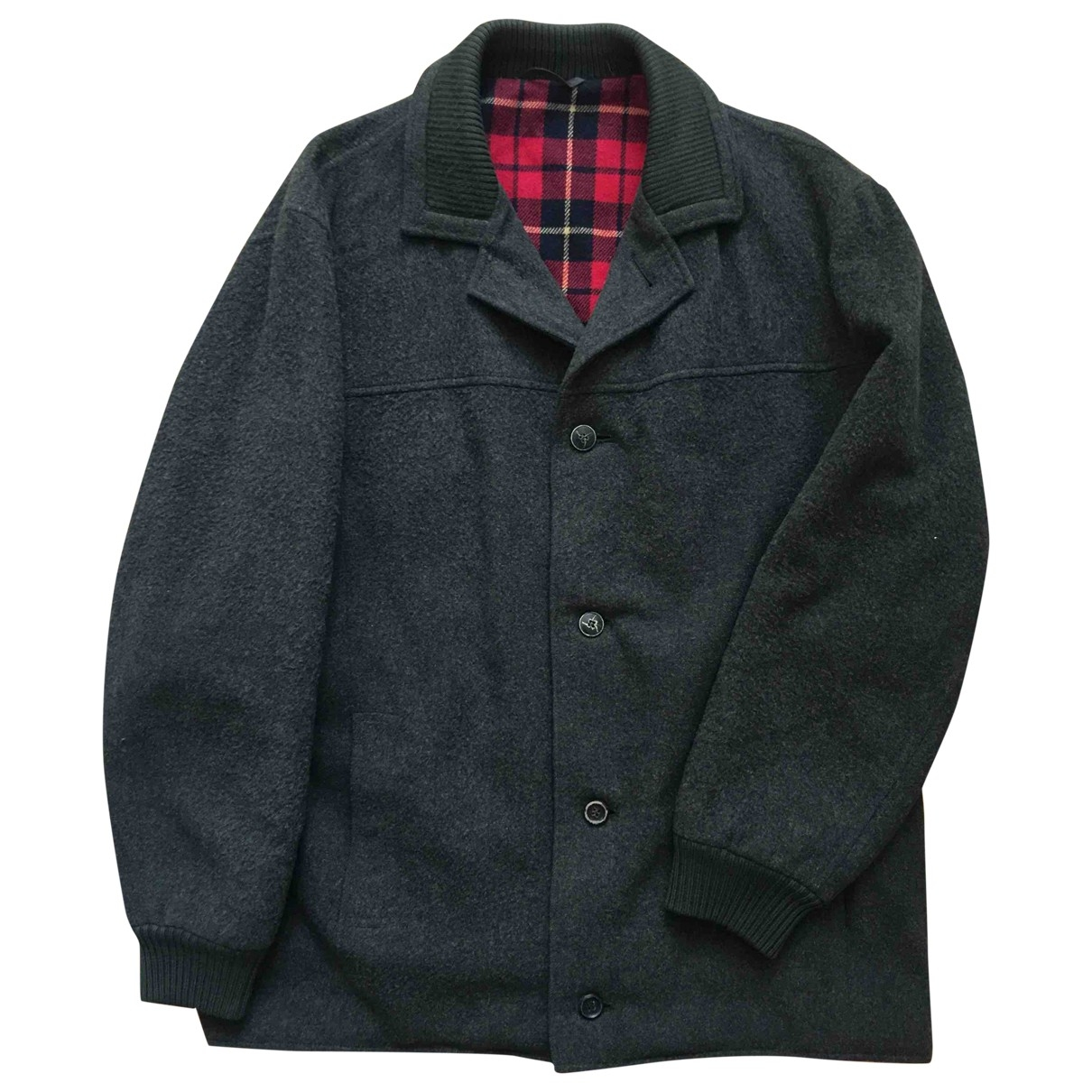 Non Signé / Unsigned \N Green Wool jacket  for Men 54 IT