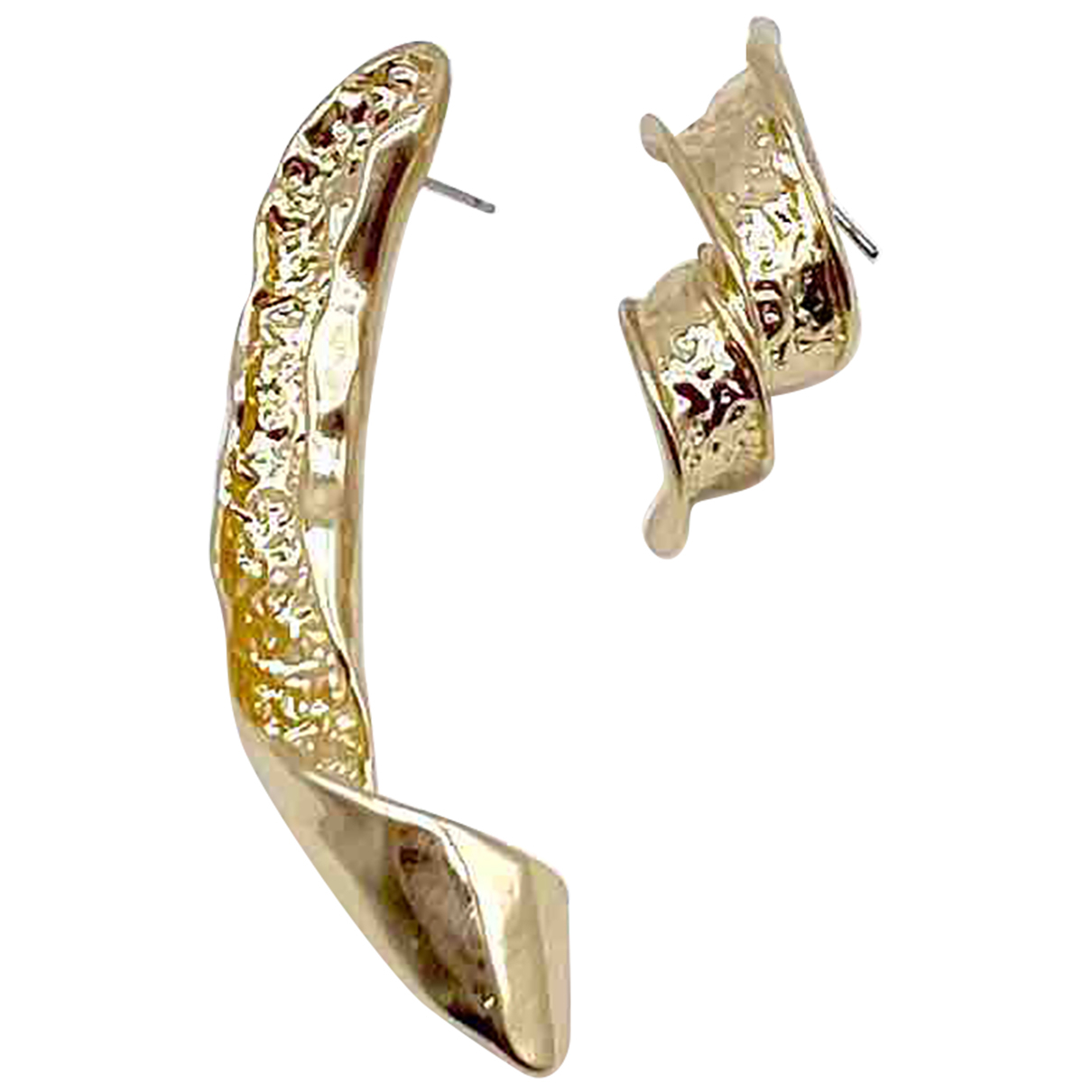 Non Signé / Unsigned N Gold Metal Earrings for Women N