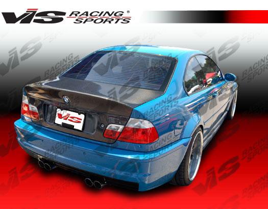 VIS Racing 99BME462DCSL-020C Carbon Fiber CSL-Euro Trunk Lid BMW 330i E46 2dr 00-05