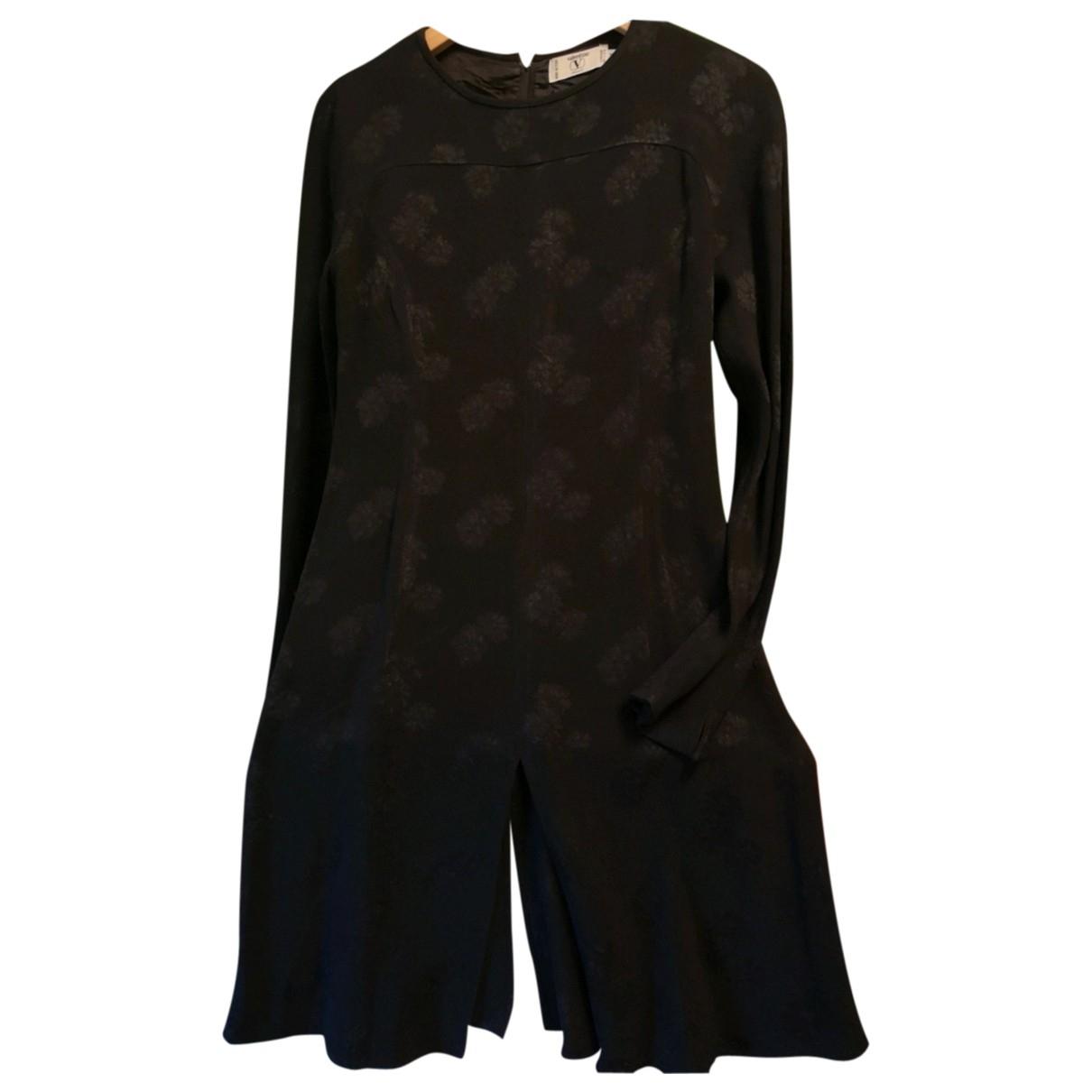 Valentino Garavani \N Kleid in  Schwarz Baumwolle - Elasthan