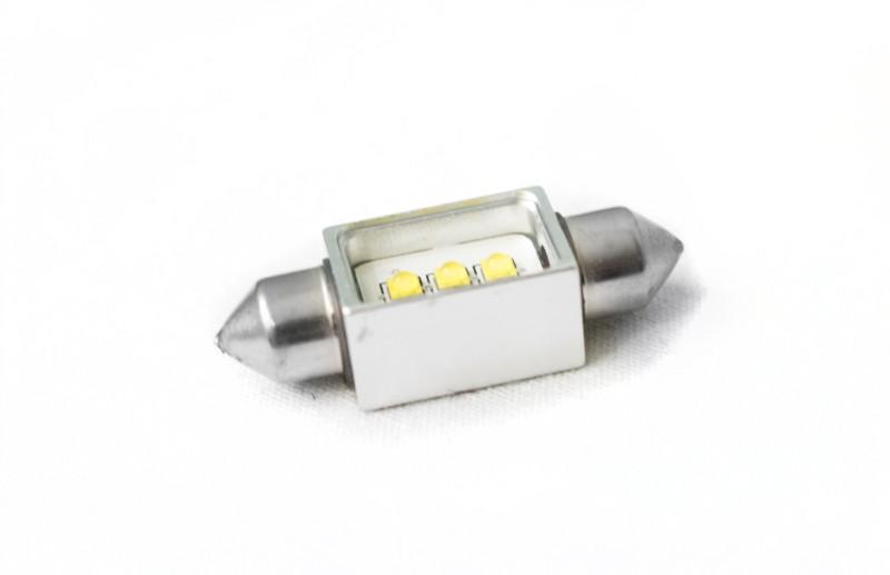 Race Sport Lighting RS36MMHPW White 36mm Festoon BLAST Series Hi Power 5-Watt CREE LED Replacement Bulbs