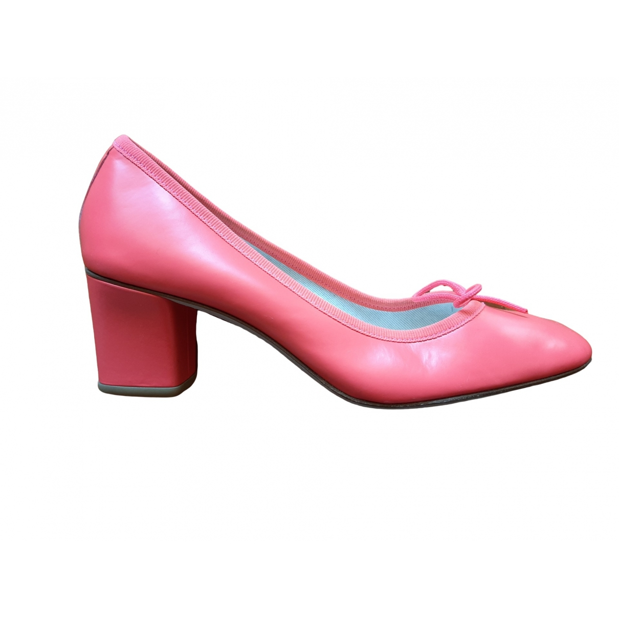 Repetto \N Pink Leather Heels for Women 37 EU