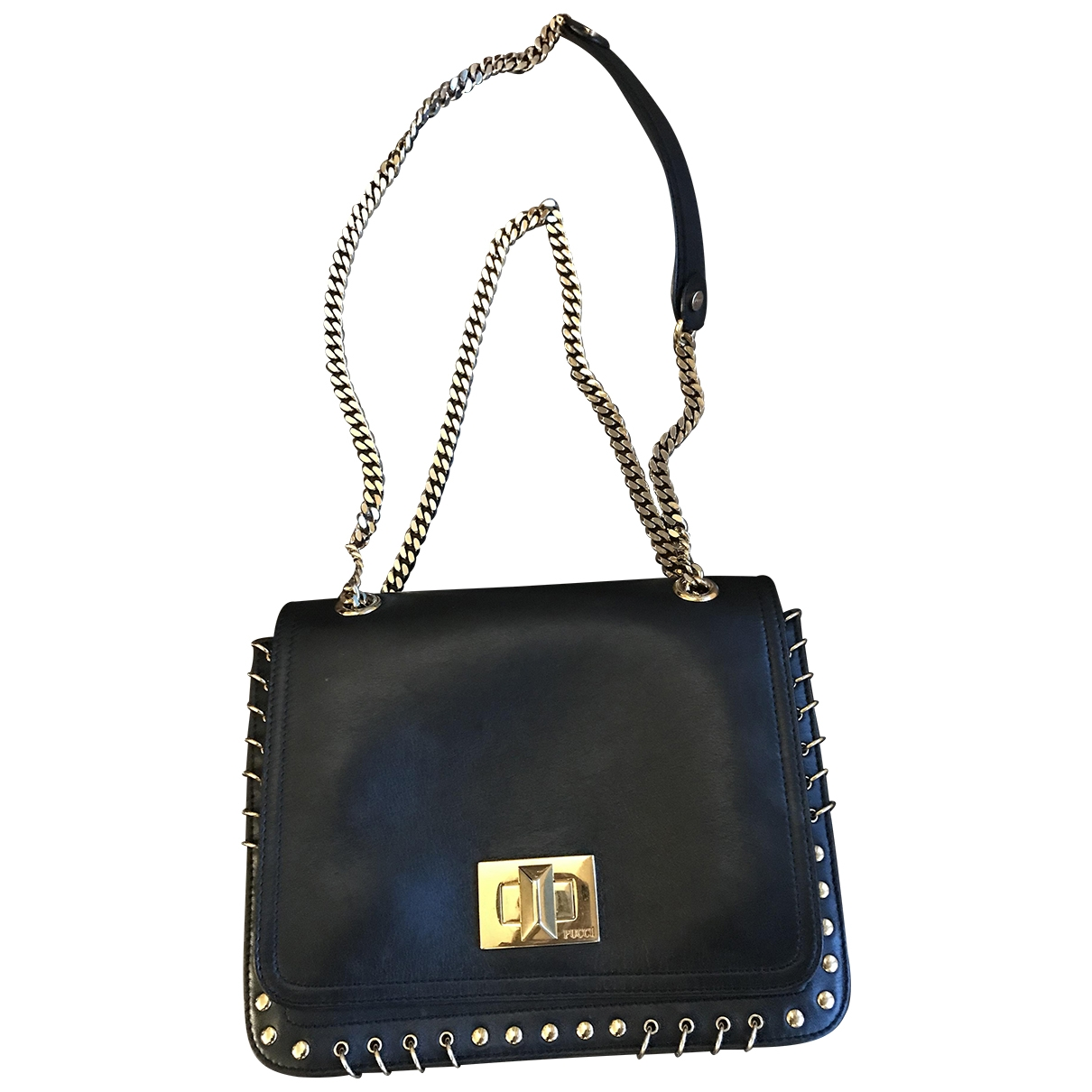 Emilio Pucci \N Black Leather handbag for Women \N