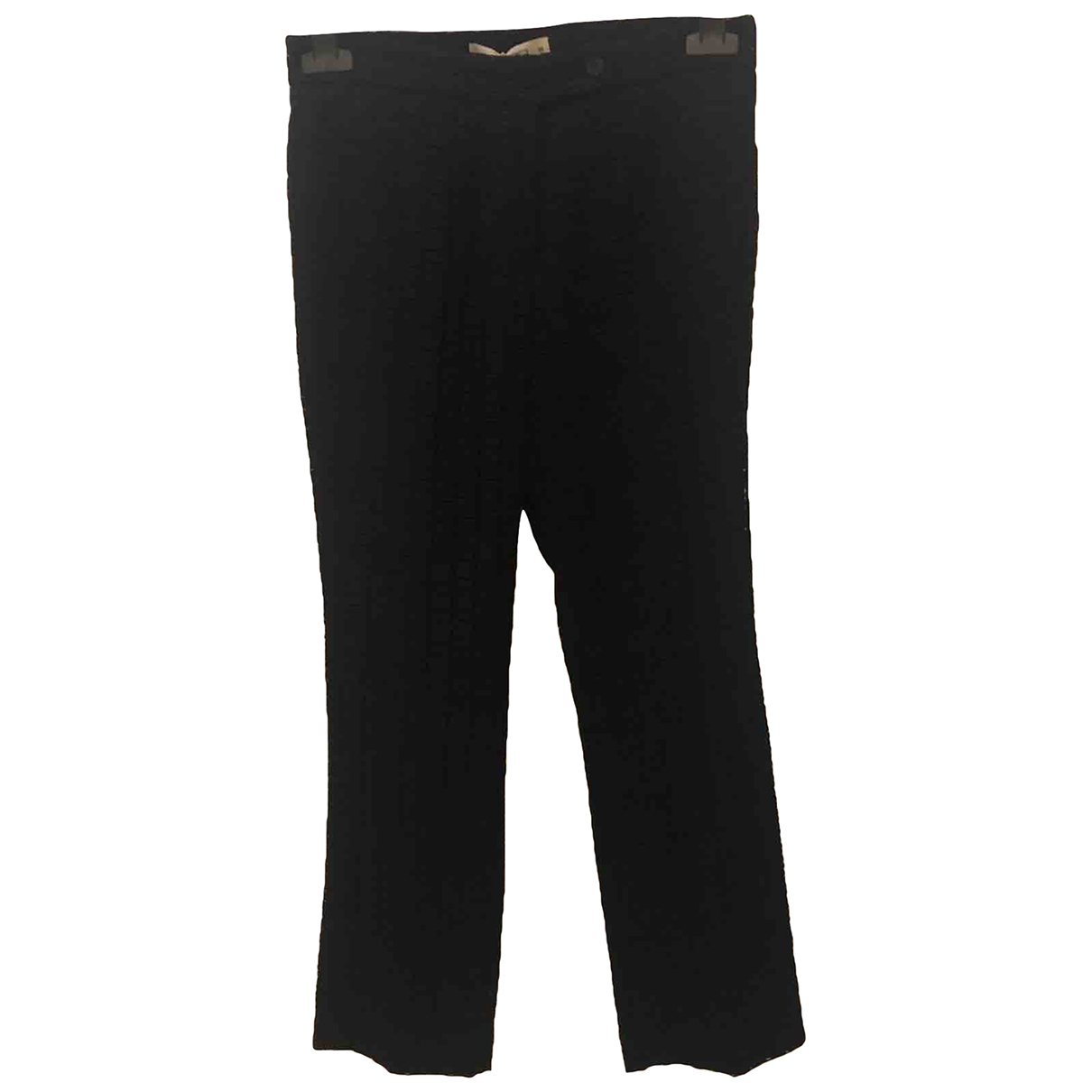 Etro \N Black Cotton Trousers for Women 38 IT