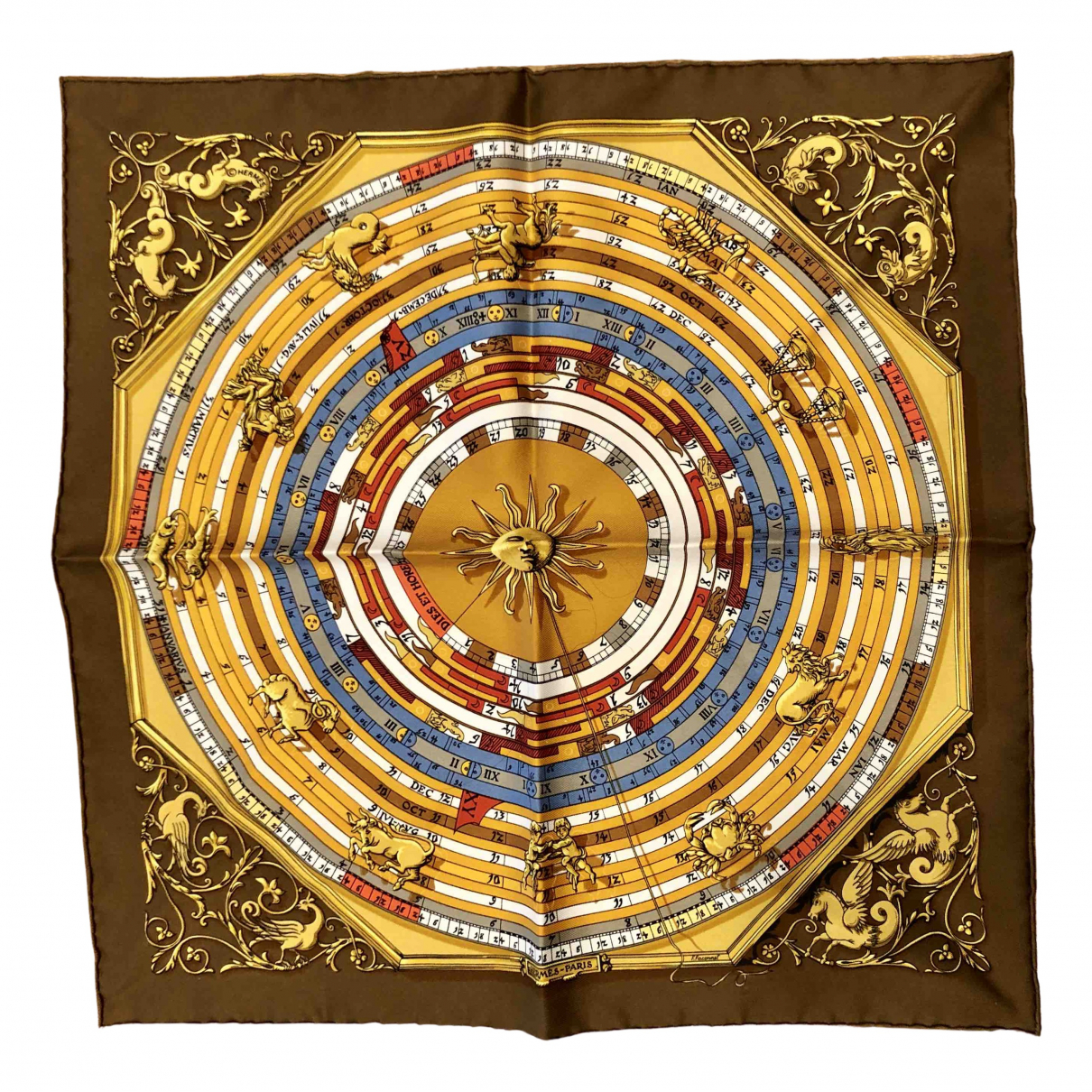 Hermes Gavroche 45 Schal in Seide