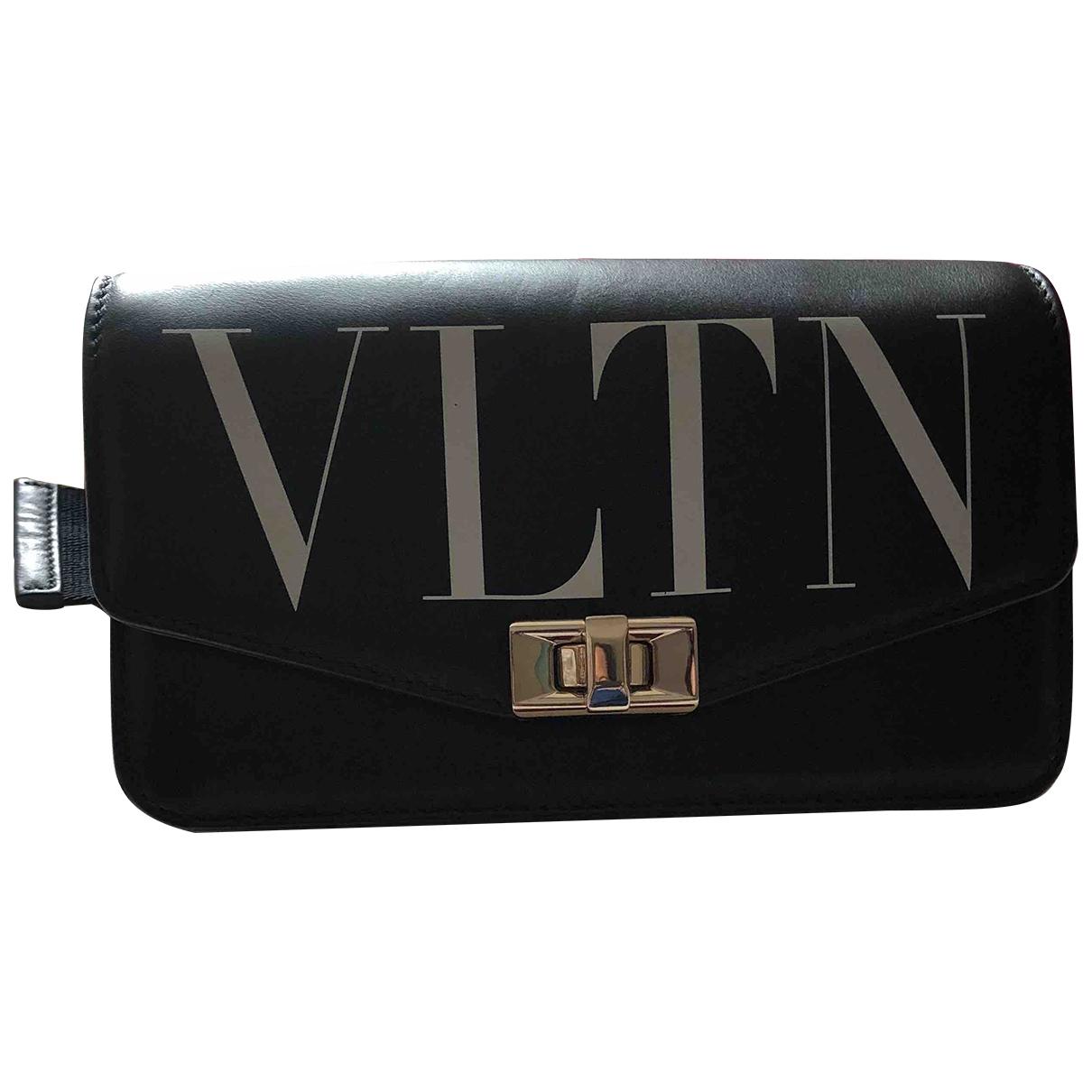 Valentino Garavani - Pochette   pour femme en cuir - noir