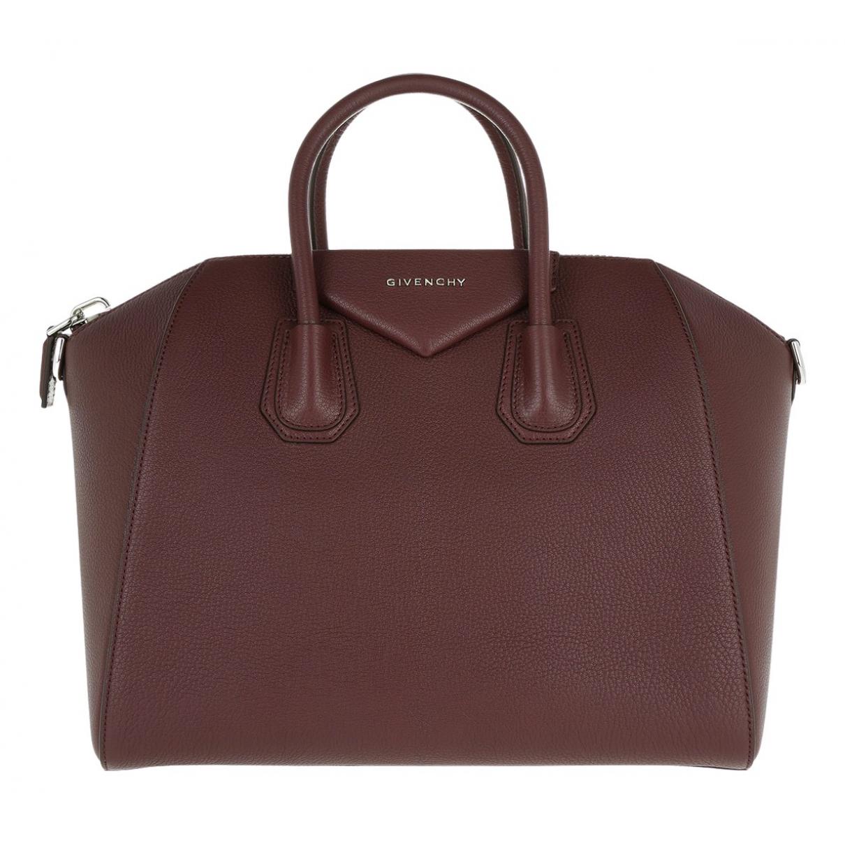 Givenchy Antigona Handtasche in  Bordeauxrot Leder