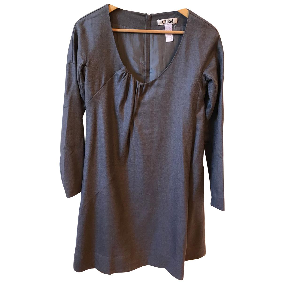 Chloe - Robe   pour femme en laine - gris
