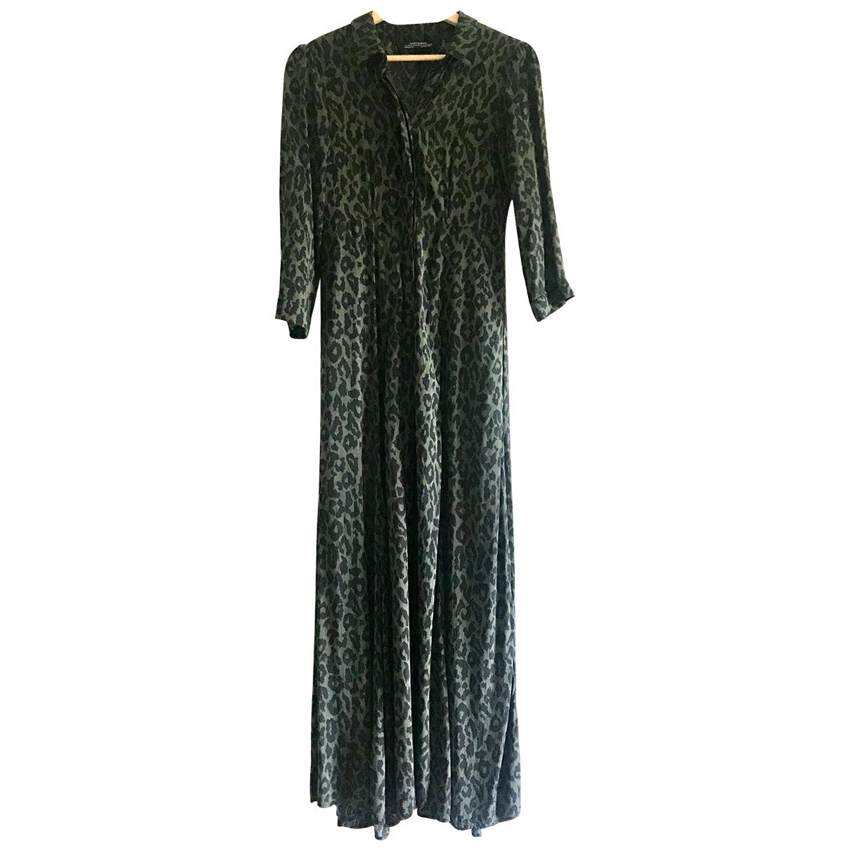 Zara \N Khaki Cotton dress for Women 6 UK