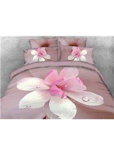 Vivilinen 3D Dewy Magnolia Printed 5-Piece Comforter Sets