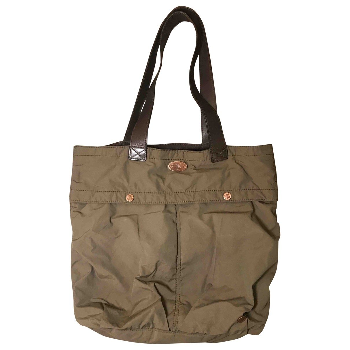 Celine \N Khaki Cloth handbag for Women \N