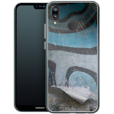 Huawei P20 Lite Silikon Handyhuelle - Texture Pacificwall von Brent Williams