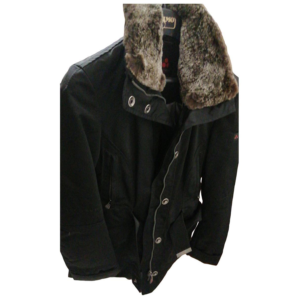 Peuterey N Black Rabbit coat for Women 44 IT