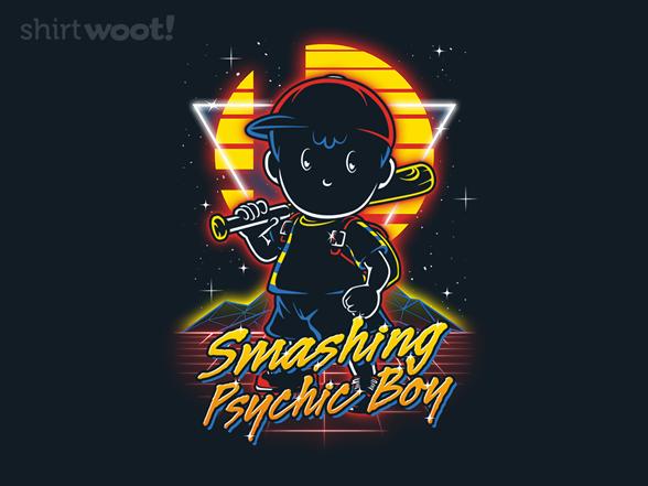 Retro Smashing Psychic Boy T Shirt