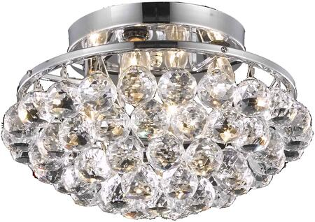 V9805F14C/RC 9805 Corona Collection Flush Mount D:14In H:9In Lt:4 Chrome Finish (Royal Cut
